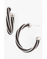 Alor | Black Hoop Earrings | Lyst