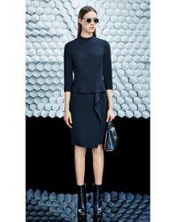 BOSS - Black Dress With Peplum: 'dikyong' - Lyst