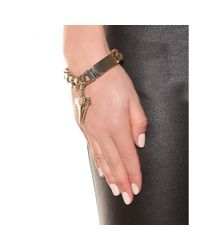 Givenchy - Metallic Shark Tooth Chain-link Bracelet - Lyst