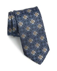 JZ Richards - Blue Floral Silk Tie for Men - Lyst