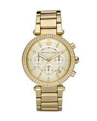 Michael Kors   Metallic Parker Glitz Watch   Lyst