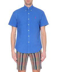 Ralph Lauren | Blue Slim-fit Cotton Shirt for Men | Lyst