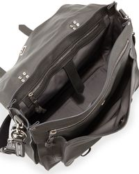 Proenza Schouler - Black Buffalo Extra-Large Leather Messenger Bag - Lyst