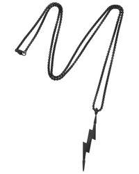 Vitaly | Zanmi Matte Black Lightning Bolt Necklace | Lyst