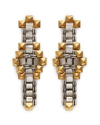 Ela Stone | Metallic 'Blake' Stud Chain Link Earrings | Lyst