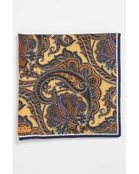 JZ Richards | Brown Silk Pocket Square for Men | Lyst