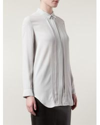 IRO | Gray Pleated Detail Shirt | Lyst