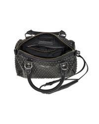 Zadig & Voltaire - Xs Sunny Studs Black Leather Satchel W/Shoulder Strap - Lyst
