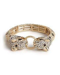 BaubleBar | Metallic Baroque Jaguar Bangle | Lyst
