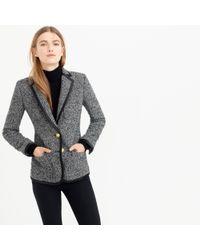 J.Crew | Black Rhodes Blazer In Italian Donegal Wool | Lyst