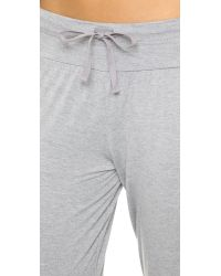 Splendid - Gray Cropped Pants - Lyst