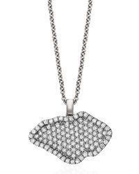 Kimberly Mcdonald - Metallic 18k White-gold Pavé Diamond Pendant Necklace - Lyst