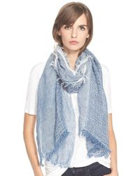 Rag & Bone | Blue 'Beacon' Linen Scarf | Lyst