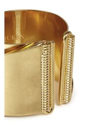 Alexander McQueen - Metallic Slant Cuff - Lyst
