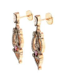 Sabine G | Metallic Ruby And Diamond Earrings | Lyst