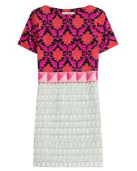 Mary Katrantzou - Pink Benyon Silk-satin Dress - Lyst