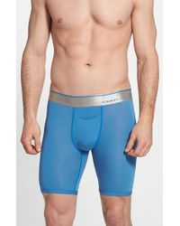 Tommy John - Blue 'second Skin' Boxer Briefs for Men - Lyst