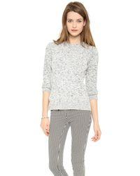 Theory | Gray Rainee Marled Sweater | Lyst
