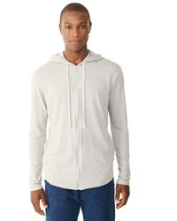 Alternative Apparel | Gray Eco-mock Twist Zip Hoodie for Men | Lyst