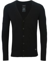 DIESEL - Black V-neck Cardigan for Men - Lyst