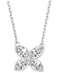 Swarovski | Metallic Silver-Tone Crystal Butterfly Pendant Necklace | Lyst