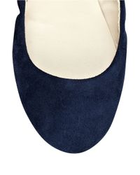 Nine West - Blue Mistray Suede Flats - Lyst
