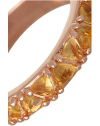 Katie Rowland - Pink Circe Trillion Rose Gold-tone Crystal Ring - Lyst