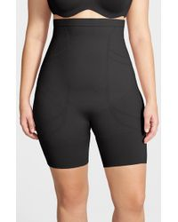 Spanx - Black 'slim Cognito' High Waist Mid Thigh Shaper - Lyst