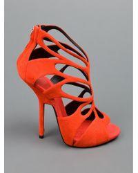 Giuseppe Zanotti   Orange Stylised Cutout Sandal   Lyst