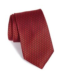 Ermenegildo Zegna | Red Floral Silk Tie for Men | Lyst