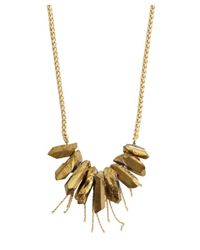 Soixante Neuf | Metallic Gold Pyrite Fringe Necklace | Lyst