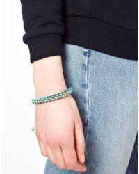 Ashiana - Pink Box Chain Bracelet with Cord - Lyst