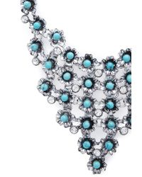 Forever 21 | Blue Cascading Flower Bib Necklace | Lyst
