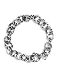 David Yurman | Metallic Oval Link Bracelet | Lyst