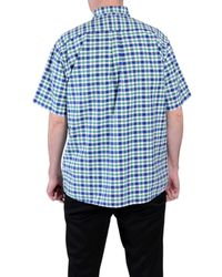 Double Two - Green Check Classic Fit Button Down Shirt for Men - Lyst