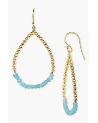 Argento Vivo | Metallic 18k Gold Plated Sterling Silver Turquoise Open Teardrop Earrings | Lyst
