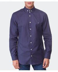 Vivienne Westwood - Blue Oxford Shirt for Men - Lyst