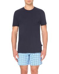 Vilebrequin | Blue Teepo Cotton-jersey Pocket T-shirt for Men | Lyst