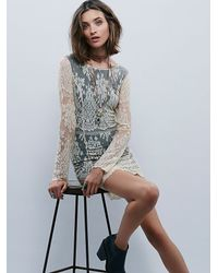 Free People | Black Lacey Bodycon Dress | Lyst