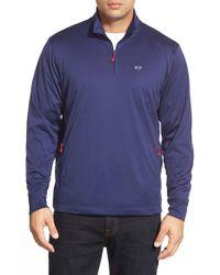 Vineyard Vines | Blue Quarter Zip Performance Pullover for Men | Lyst