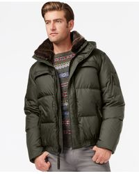 Marc New York | Green Fauxmula Puffer Jacket With Removable Hood for Men | Lyst