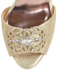 Badgley Mischka | Metallic Giana-ii Embellished Toe Evening Shoe | Lyst