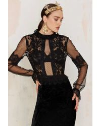 Nasty Gal | Multicolor Drawn To Scallop Lace Blouse | Lyst
