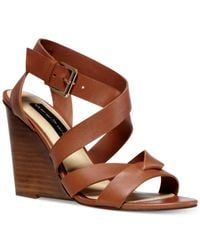 Steven by Steve Madden | Brown Marria Caged Wedge Sandals | Lyst