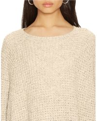 Lauren by Ralph Lauren | Natural Cotton Sweater Poncho | Lyst