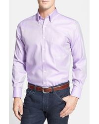 Peter Millar | Purple 'nanoluxe' Regular Fit Wrinkle Free Sport Shirt for Men | Lyst