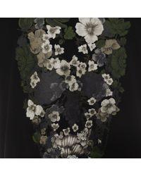 Alexander McQueen   Black Floral Skull T-shirt for Men   Lyst