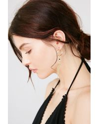 Urban Outfitters - Metallic Queen Chain Drop Earring - Lyst