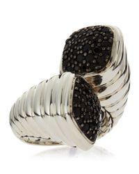 John Hardy | Metallic Bedeg Black Sapphire Lava Bypass Ring | Lyst