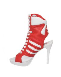 Jeremy Scott for adidas | Lace Up High Heels Red | Lyst